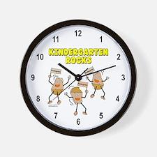 Kindergarten Rocks Wall Clock