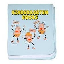 Kindergarten Rocks baby blanket