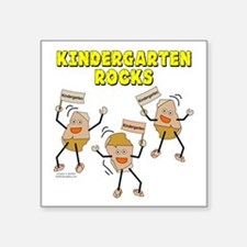 "Kindergarten Rocks Square Sticker 3"" x 3"""