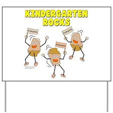 Kindergarten Rocks Yard Sign