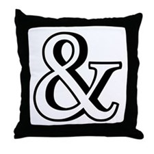 &, ampersand sign with shadow Throw Pillow