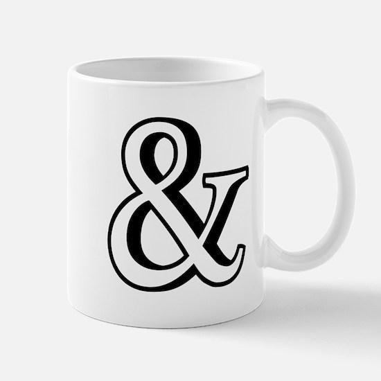 &, ampersand sign with shadow Mug