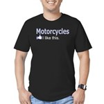 Motorcycles I like this. Men's Fitted T-Shirt (dar