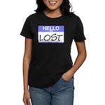 Hello I Am Lost Sticker Women's Dark T-Shirt