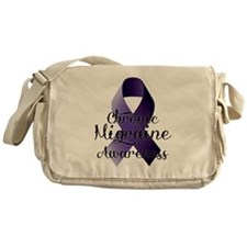 Chronic Migraine Awareness Messenger Bag