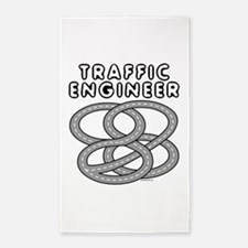 Traffic Engineer Interchange 3'x5' Area Rug