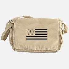 Black and White American Flag Messenger Bag