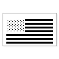 Black and White American Flag Decal
