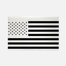 Black and White American Flag Rectangle Magnet