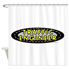 Traffic Engineer Oval Shower Curtain
