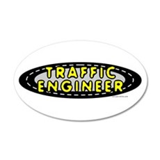 Traffic Engineer Oval Wall Decal