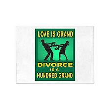 DIVORCE 5'x7'Area Rug