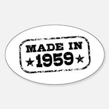 Made In 1959 Sticker (Oval)