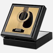 Acoustic Guitar Square Keepsake Box