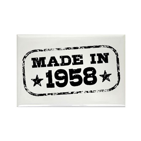 Made In 1958 Rectangle Magnet