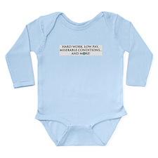 CCC Motto Long Sleeve Infant Bodysuit