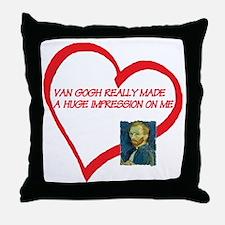 I Love Van Gogh Throw Pillow
