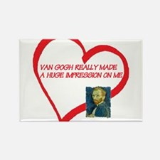 I Love Van Gogh Rectangle Magnet