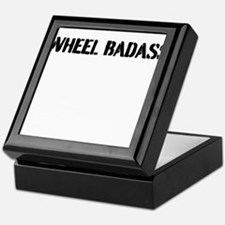 Wheel Badass Plain Print Keepsake Box