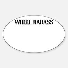 Wheel Badass Plain Print Decal