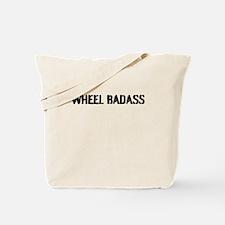 Wheel Badass Plain Print Tote Bag