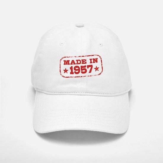 Made In 1957 Baseball Baseball Cap