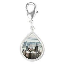 Hong Kong Silver Teardrop Charm
