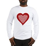 Red heart Long Sleeve T-shirts
