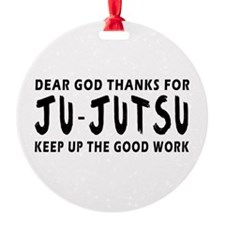 Ju-Jutsu Martial Arts Designs Ornament