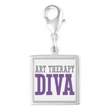Art Therapy DIVA Silver Square Charm