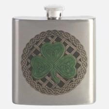 Shamrock And Celtic Knots Flask