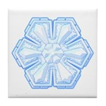 Flurry Snowflake II Tile Coaster