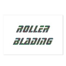 Roller Blading Postcards (Package of 8)