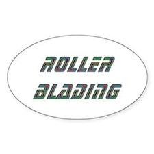 Roller Blading Oval Decal