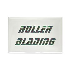 Roller Blading Rectangle Magnet