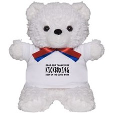 Kickboxing Martial Arts Designs Teddy Bear