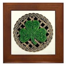 Shamrock And Celtic Knots Framed Tile