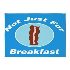 Not Just For Breakfast Bacon 5'x7'Area Rug