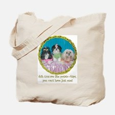 Shih Tzu Valentine Spring Easter  Tote Bag
