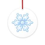 Flurry Snowflake I Ornament (Round)