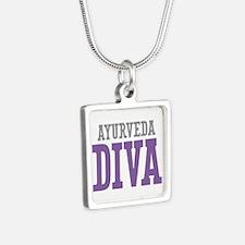Ayurveda DIVA Silver Square Necklace
