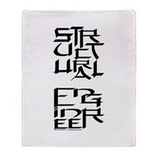 Structural Engineer Character Throw Blanket