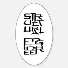Structural Engineer Character Sticker (Oval)