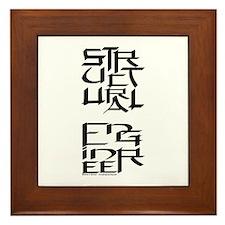 Structural Engineer Character Framed Tile