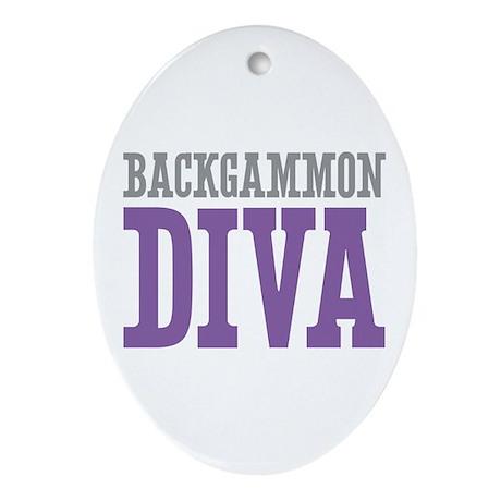 Backgammon DIVA Ornament (Oval)