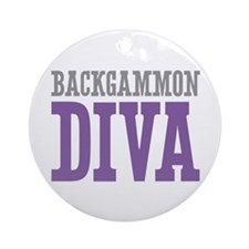 Backgammon DIVA Ornament (Round)