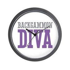 Backgammon DIVA Wall Clock