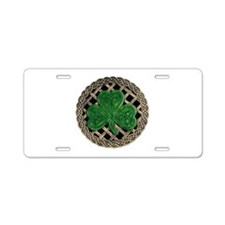 Shamrock And Celtic Knots Aluminum License Plate