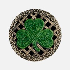 "Shamrock And Celtic Knots 3.5"" Button"