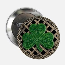 "Shamrock And Celtic Knots 2.25"" Button"